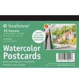 STRATHMORE STRATHMORE WATERCOLOUR POSTCARDS 4X6 15/PK    704-4