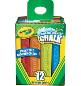 CRAYOLA CRAYOLA SIDEWALK CHALK WASHABLE 12/PK