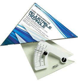 PRO ART PRO ART ADJUSTABLE TRIANGLE WITH INKING EDGE 12 INCH