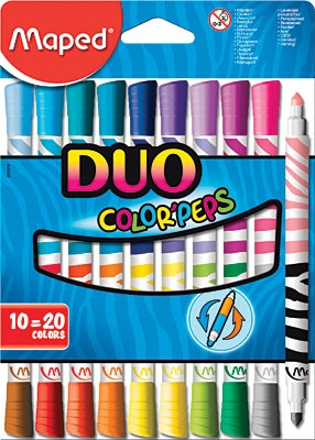 MAPED MAPED DUO COLOR PEPS MARKERS SET/10