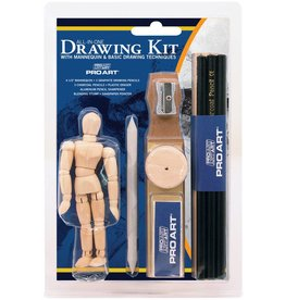 PRO ART PRO ART ALL IN ONE DRAWING KIT WITH MANNEQUIN VALUE PACK