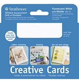 STRATHMORE STRATHMORE CREATIVE CARD 3X5 PALM BEACH WHITE 10/PK   105-4
