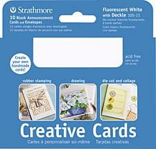 STRATHMORE STRATHMORE CREATIVE CARD 3X5 PALM BEACH WHITE 10/PK   105-4
