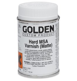 GOLDEN GOLDEN HARD MSA VARNISH W/ UVLS MATTE 8OZ