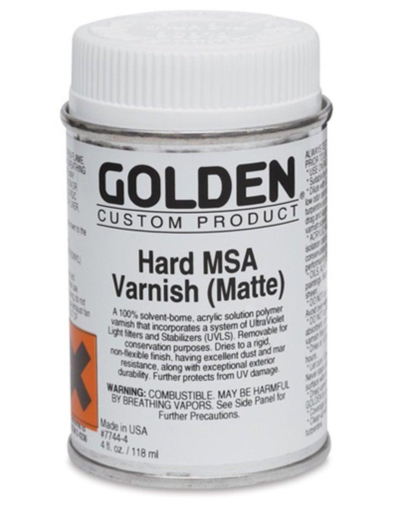 GOLDEN GOLDEN HARD MSA VARNISH W/ UVLS MATTE 8OZ
