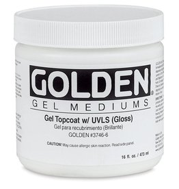 GOLDEN GOLDEN GEL TOPCOAT W/ULVS GLOSS 8OZ