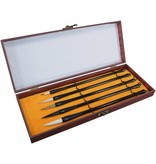 ART ADVANTAGE SUMI BRUSH SET/5 WITH WOOD BOX    ART-S8732