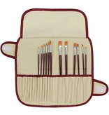 ART ADVANTAGE ART ADVANTAGE NYLON BRUSH SET W/ BRUSH CASE SET/12