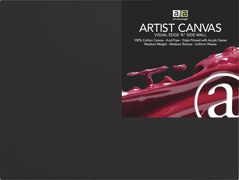 ART ADVANTAGE ART ADVANTAGE ARTIST CANVAS BLACK 12X16
