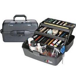FLAMBEAU (ARTBIN) ARTBIN ESSENTIAL XL 3 TRAY STORAGE BOX BLACK 20X10.25X10.375
