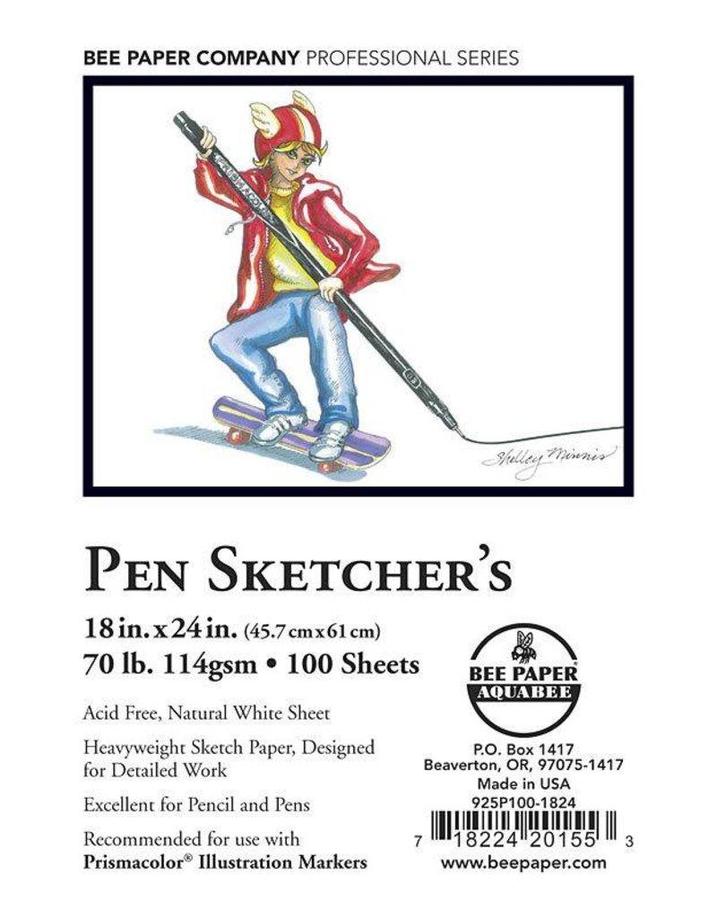 BEE PAPER BEE PAPER PEN SKETCHERS PAPER 18X24 100/PK