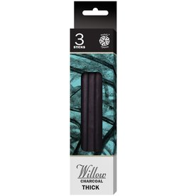 PENTALIC PENTALIC WILLOW CHARCOAL THICK 3/PK