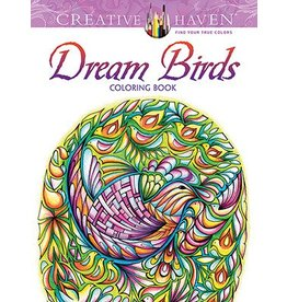 DOVER PUBLICATIONS CREATIVE HAVEN DREAM BIRDS COLOURING BOOK