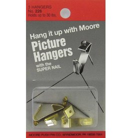 MOORE MOORE PICTURE HANGERS 30LB 3/PK    226