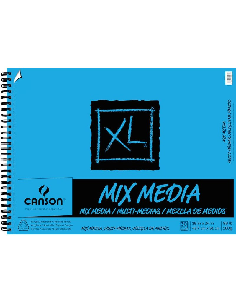 CANSON CANSON XL MIX MEDIA PAD 98LB SIDE COIL  60/SHT