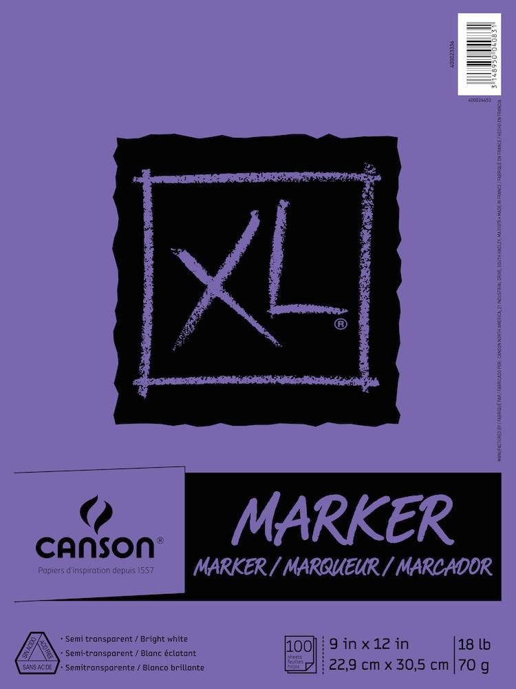 CANSON CANSON XL MARKER PAD 18LB TAPE BOUND  100/SHT