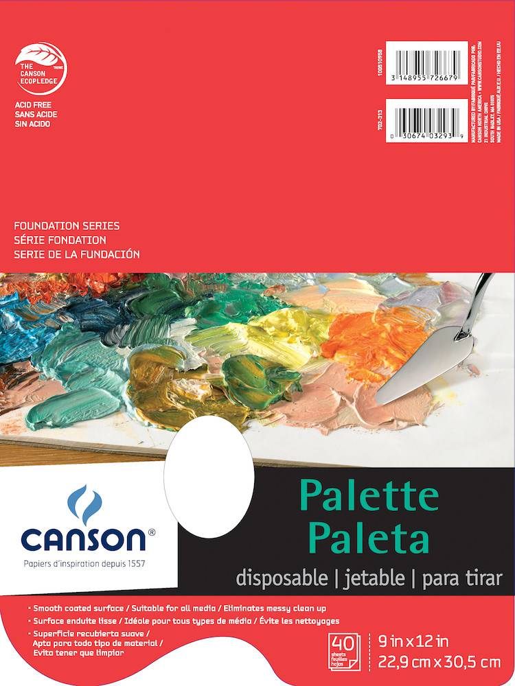 CANSON CANSON FOUNDATION DISPOSABLE PALETTE WITH HOLE