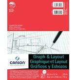 CANSON CANSON FOUNDATION GRAPH AND LAYOUT PAD 20lb