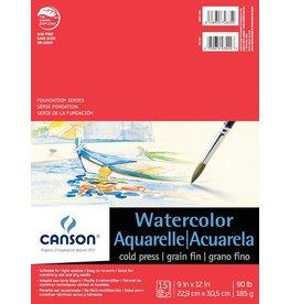 CANSON CANSON FOUNDATION WATERCOLOUR PAD 90LB