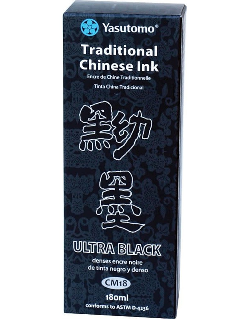 YASUTOMO YASUTOMO TRADITIONAL CHINESE INK ULTRA BLACK 180ML