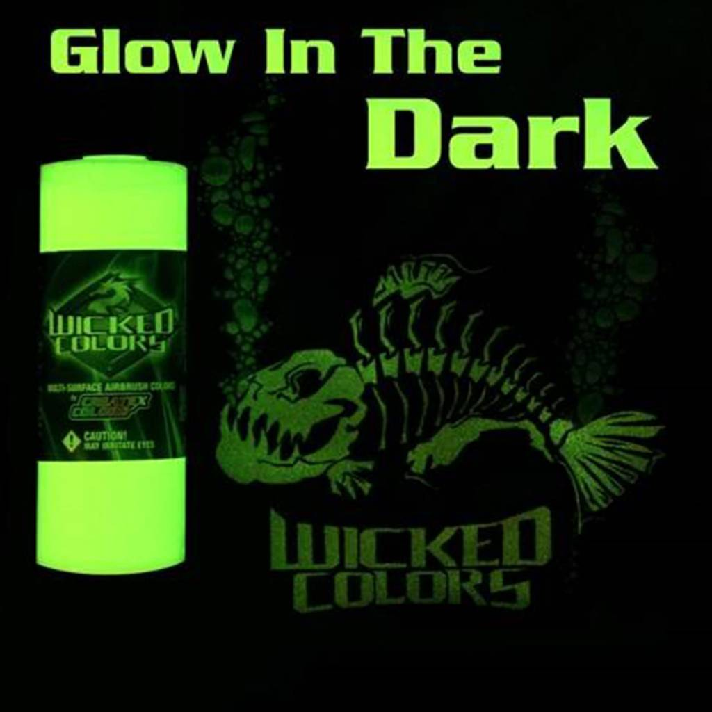 WICKED GLOW IN THE DARK AIRBRUSH PAINT  6oz 0212-16