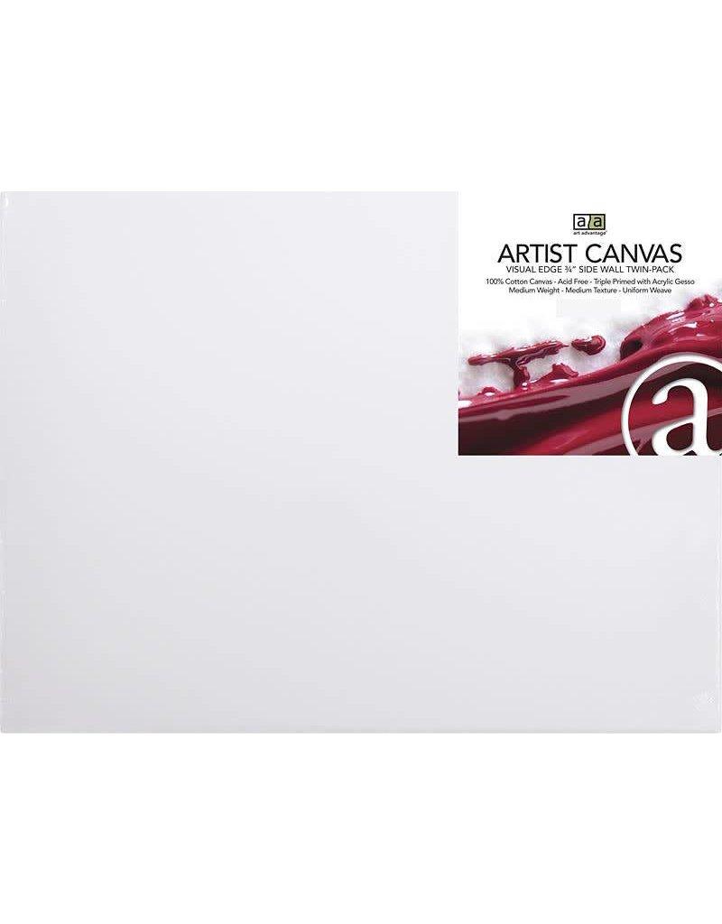 ART ADVANTAGE ART ADVANTAGE STRETCHED CANVAS 16X20 2/PK    SALE PRICE