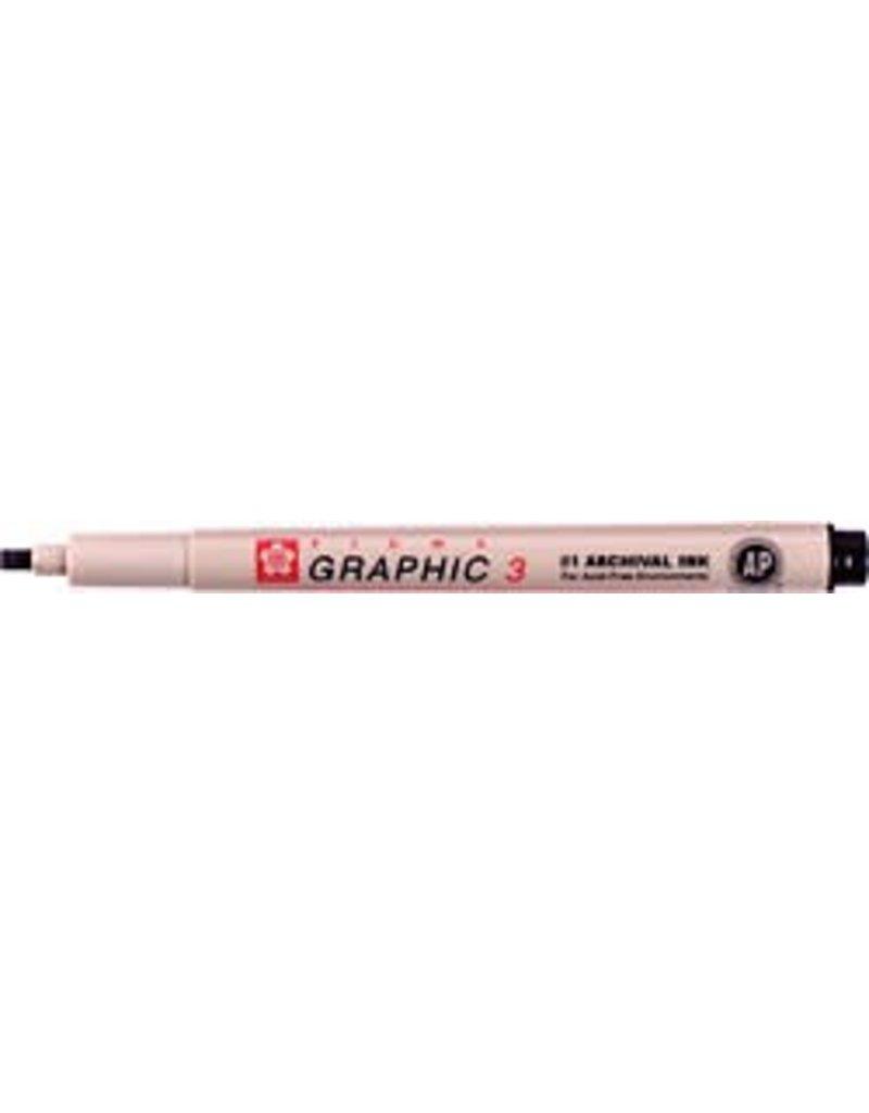 Sakura Pigma Graphic Calligraphy Pen 3 0 Black Colours