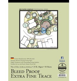 BEE PAPER BEE PAPER BLEED PROOF EXTRA FINE TRACING PAPER 9X12  50SHT