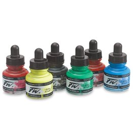 DALER ROWNEY FW LIQUID ACRYLIC PRIMARY COLOR SET/6