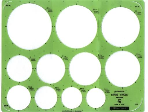 STAEDTLER STAEDTLER TEMPLATE 977 103 LARGE CIRCLES
