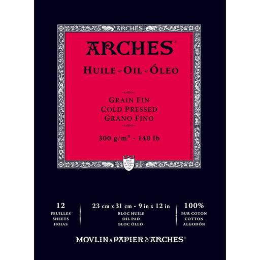 ARCHES ARCHES OIL PAPER PAD 140LB CP 12X16 12SH