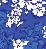 "BLUE HIBISCUS BEACH TOWEL 27"" x 58"""