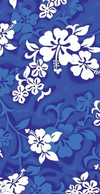 "Wet Products BLUE HIBISCUS BEACH TOWEL 27"" x 58"""