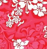 "RED HIBISCUS BEACH TOWEL 27"" x 58"""