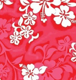 "RED HIBISCUS BEACH TOWEL 27"" x 58"""