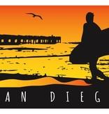 "SAN DIEGO BEACH TOWEL - PLUSH VELOUR 30"" x 60"""