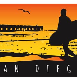 "SAN DIEGO BEACH TOWEL - PLUSH VELOUR 30"" x 60"""