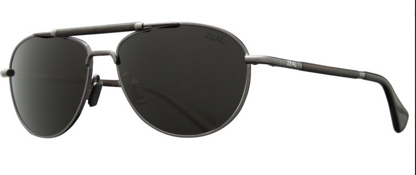 Zeal Optics ZEAL FAIRMONT Polished Steel/Dark Grey