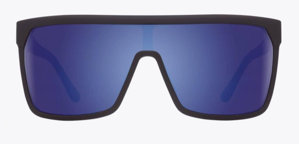 Spy Optic SPY FLYNN SOFT MATTE BLACK - HAPPY BRONZE W/ DARK BLUE SPECTRA