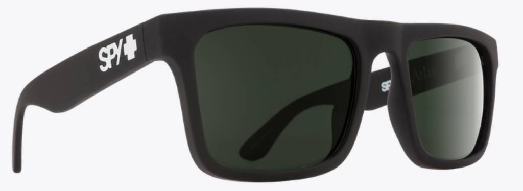Spy Optic SPY ATLAS SOFT MATTE BLACK - HAPPY GRAY GREEN POLAR