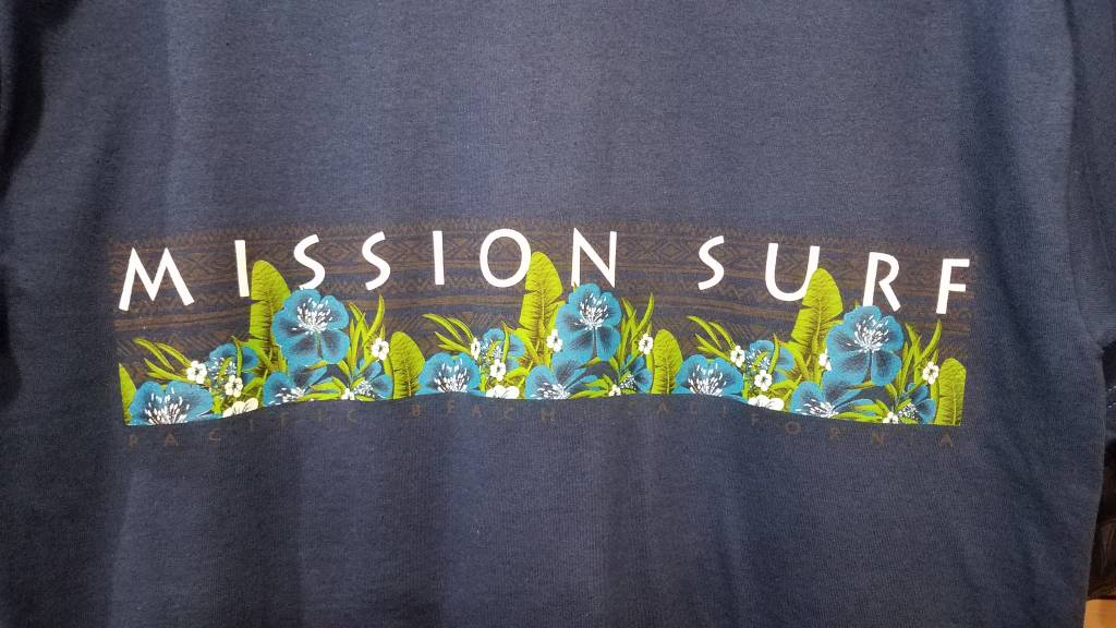 Mission Surf SURF BAND - BLUE FLORAL S/S TEE