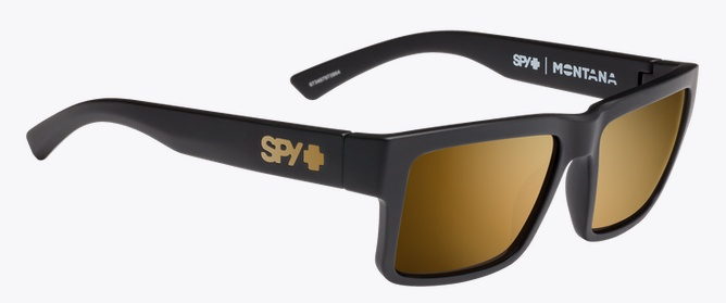 Spy Optic SPY MONTANA SOFT MATTE BLACK - HAPPY BRONZE W/ GOLD MIRROR