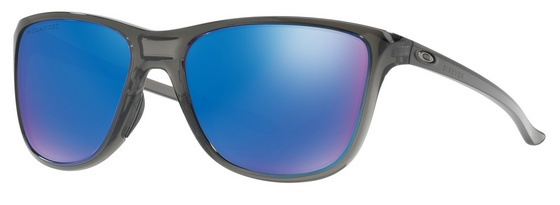 OAKLEY REVERIE GREY SMOKE W/ SAPPHIRE IRIDIUM POLARIZED