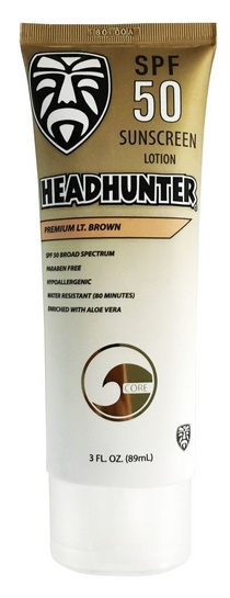 Headhunter HEADHUNTER SPF 50 SUNSCREEN PREMIUM LT. BROWN 3oz.