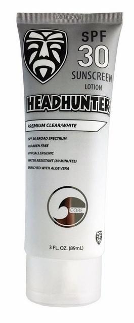 Headhunter HEADHUNTER SPF 30 SUNSCREEN PREMIUM CLEAR / WHITE 3oz.