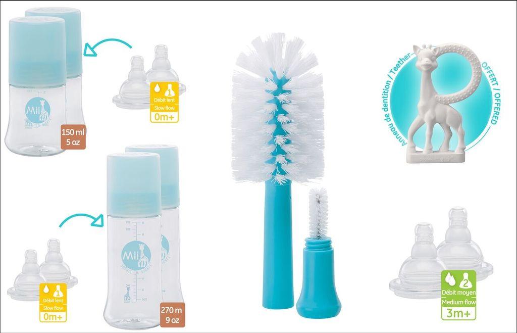 Mii Mii Feeding Bottles - Birth Set