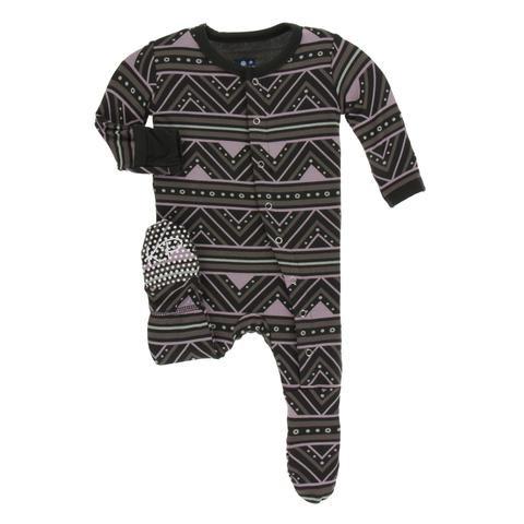 Kickee Pants Kickee Pants Kenya Footie w/ snaps
