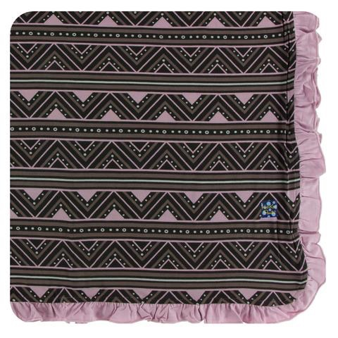 Kickee Pants Kickee Pants Kenya Ruffle Toddler Blanket - African Pattern