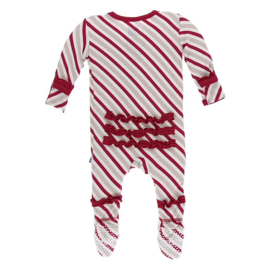 Kickee Pants Kickee Pants Holiday Classic Ruffle Footie with Snaps