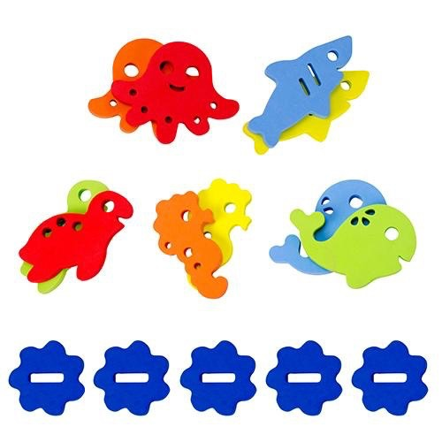 Ubbi Ubbi Fit 'n Float Foam Bath Toys